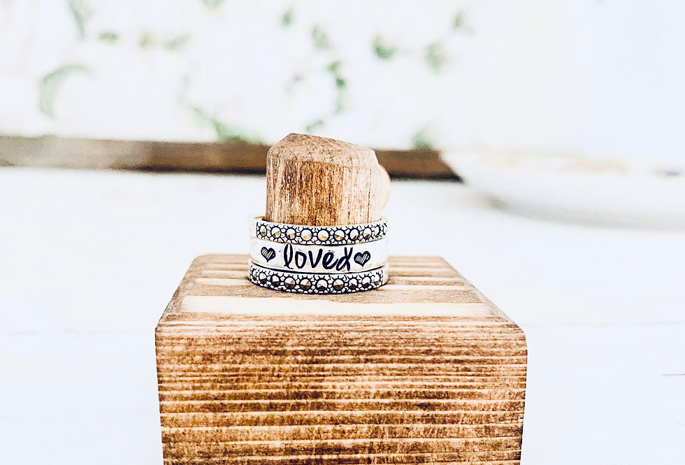 Crystal Love Stackable Ring Set