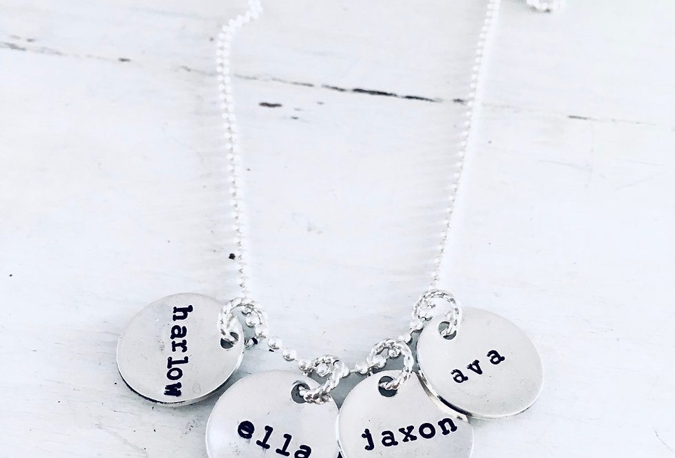 Well Rounded Personalized Disc Necklace