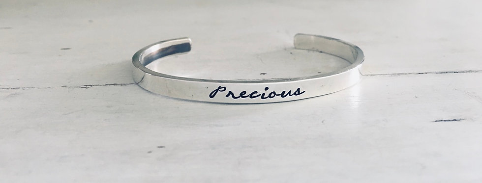 Precious Sterling Cuff Bracelet Hammered  (ready to ship)