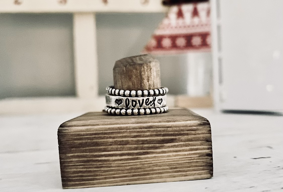 Simple loved Ring set; Size 9