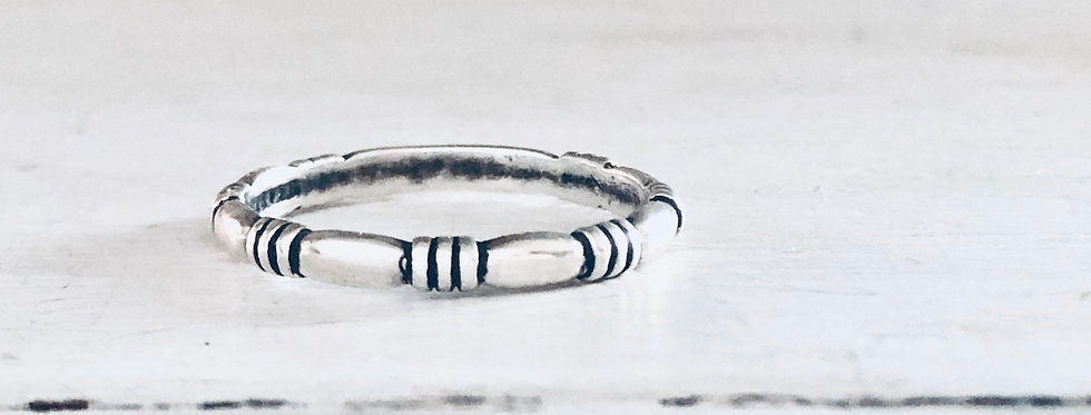 Three Stripe Stackable Ring 2mm
