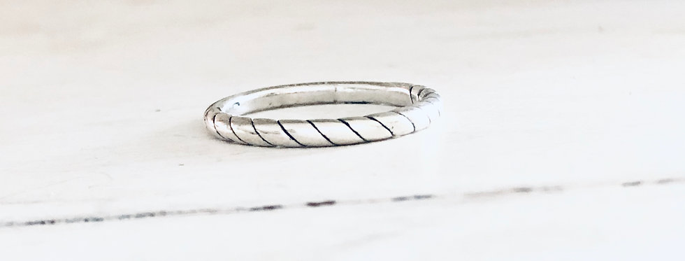 Rope Band Stackable Ring 2mm