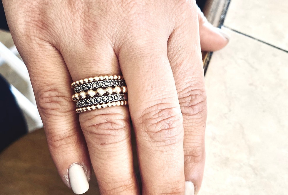 Classy Kate Ring Stack-Gold
