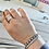 Thumbnail: Come and Take It Sterling Cuff Bracelet Hammered  (ready to ship)