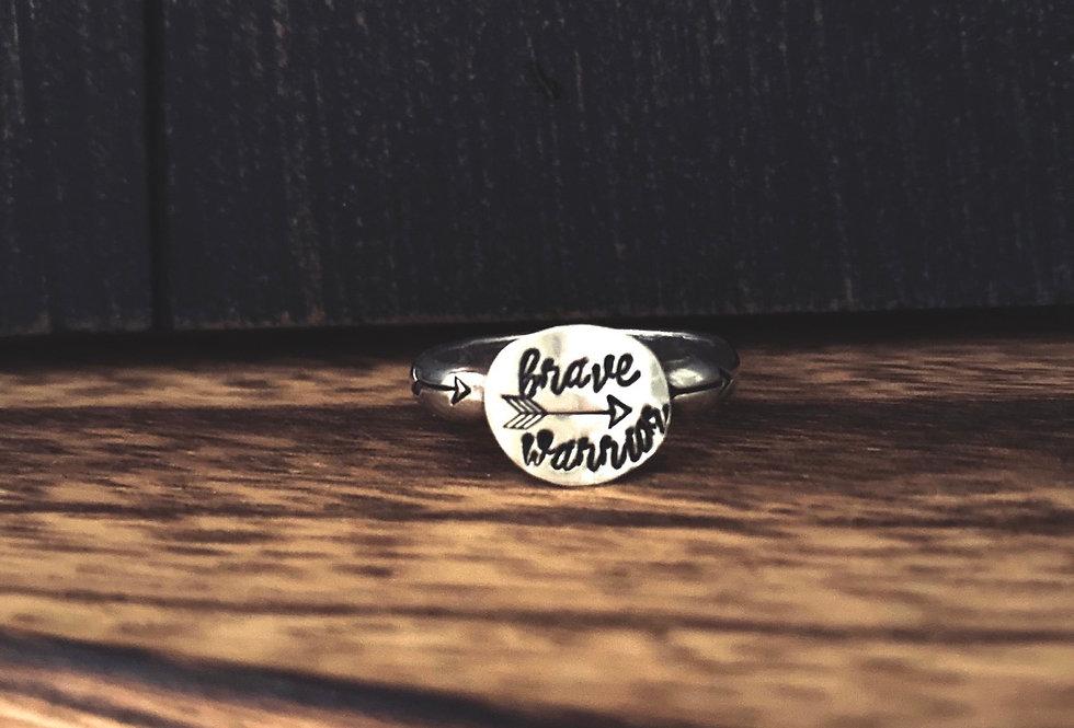 BRAVE WARRIOR Signet Ring