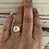 Thumbnail: Be Still Oval Ring Sterling Silver Sz. 7 Ready to Ship