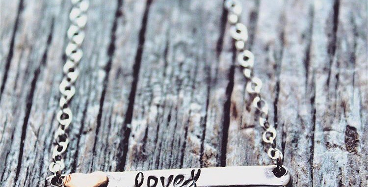 Loved Bar Necklace with Sweet Soldered Heart