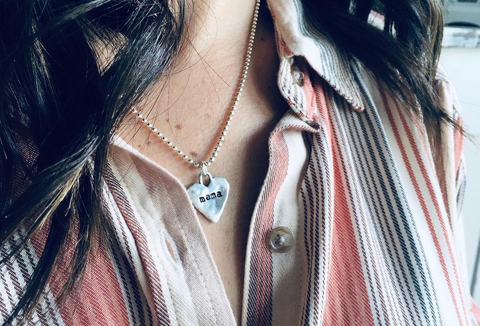 Simply Mama Artisan Heart Necklace