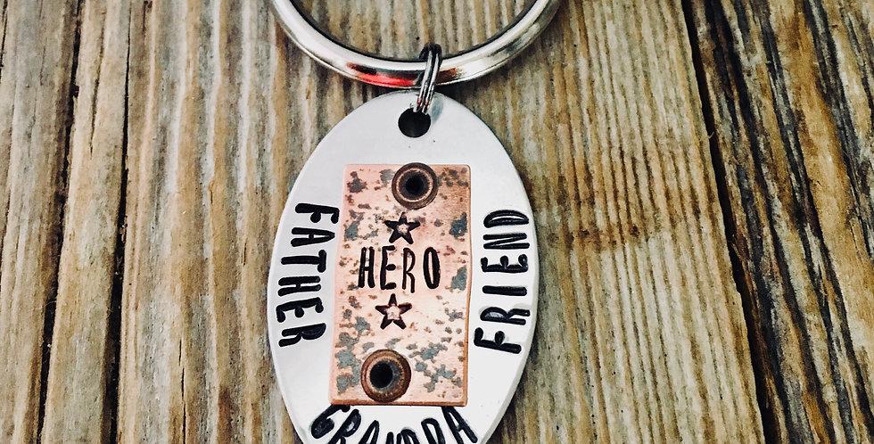 Husband, Grandpa, Friend Key Chain