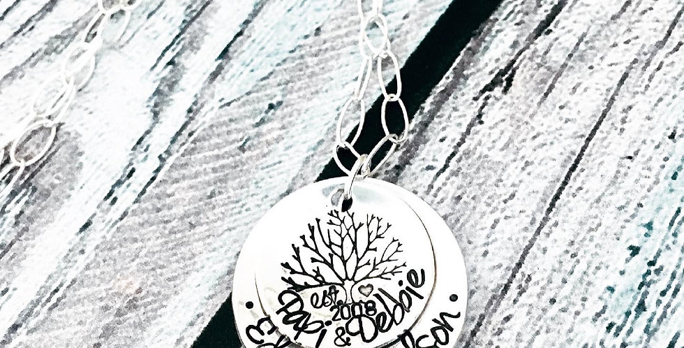 The Small Family Heritage Necklace Personalized-SMALL