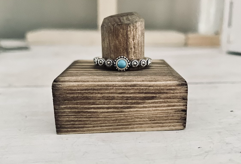 Turquoise and Marcasite Stackble ring ONLY ONE IN STOCK SIZE 11