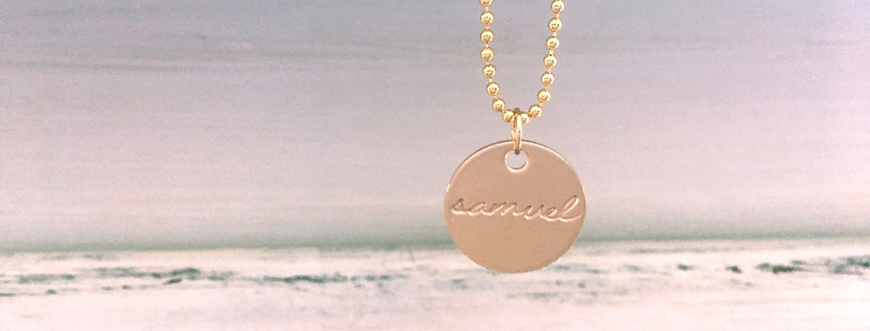 """Well Rounded Gold Filled Necklace-5/8"""" disc"""