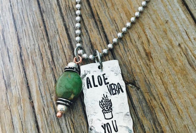Aloe Vera you Fun Plant Lady necklace