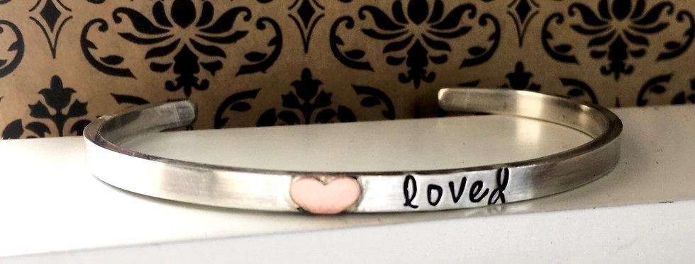 Loved Sterling Cuff Bracelet