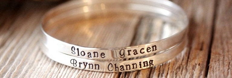 Customized Sterling Silver Bangle- I have found the One My Soul Loves