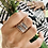 Thumbnail: 4 Skinny personalized rings with 3 ROSE GOLD bead rings