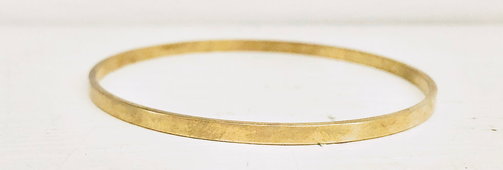 Simple Brass Bangle (ready to ship)