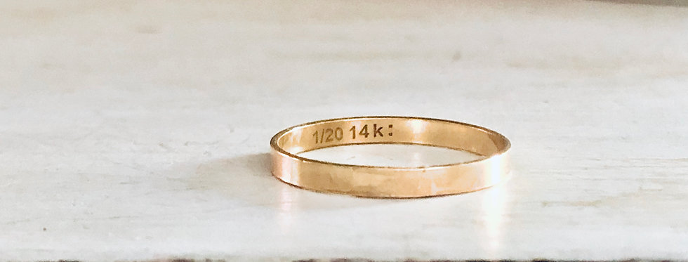 Smooth Gold Filled Stackable Ring 2mm