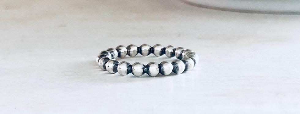 Thick Beaded Stackable Ring 3mm