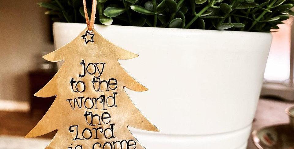 Joy to the world Ornament (ready to ship)