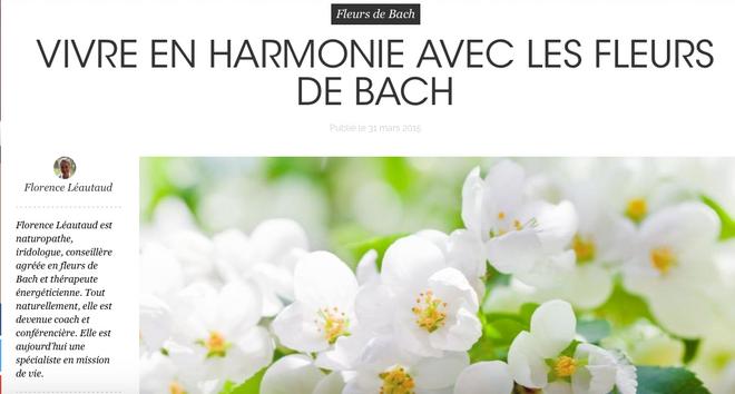 En Harmonie avec les Fleurs de Bach