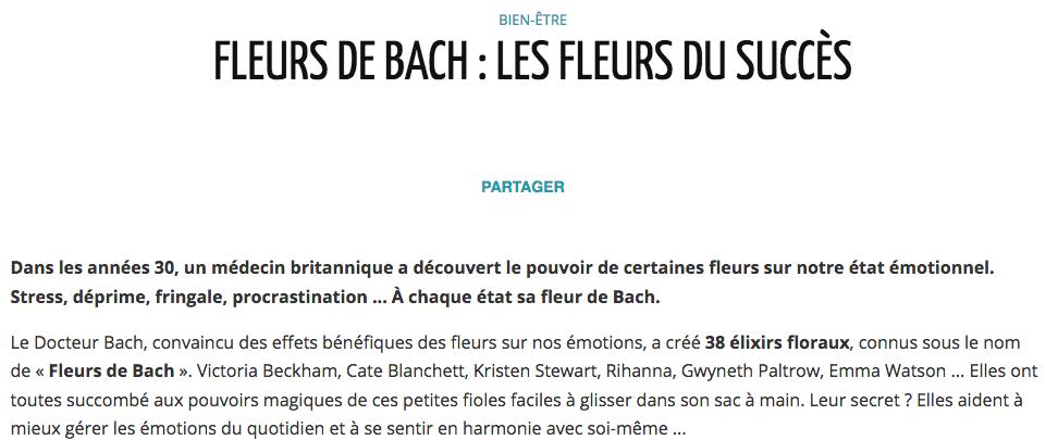 Fleurs de Bach, Les Fleurs du succès