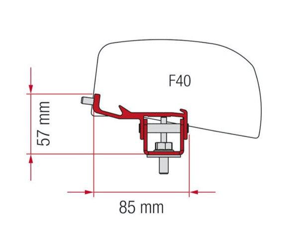 Fiamma Adapter-Kit F40 Van Nissan NV350