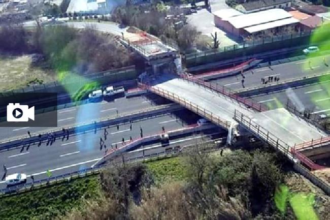 Κατάρρευση υπέργειου αυτοκινητοδρόμου στην Ανκόνα λόγω κακοτεχνιών - Νεκρό ένα ζευγάρι Ιταλών (video