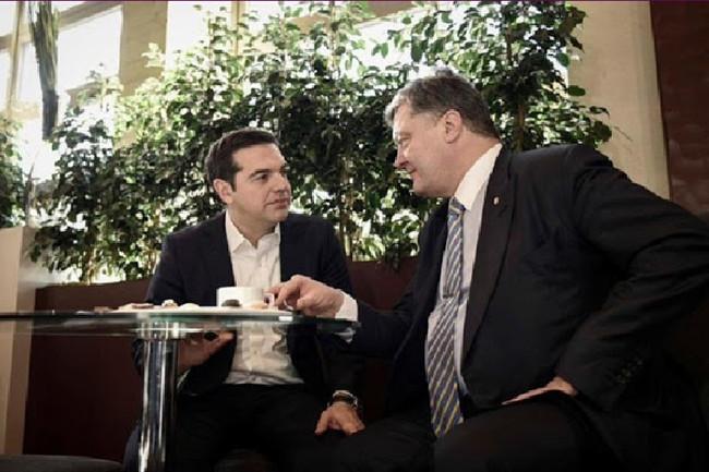 Με τον Πέτρο Ποροσένκο συναντάται σήμερα ο πρωθυπουργός Αλέξης Τσίπρας