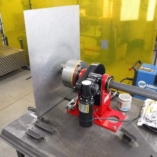 Our Millermatic 210 welder and Starley DC positioner.