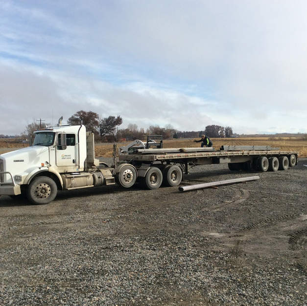 It all starts with a load of steel from Billings MT.
