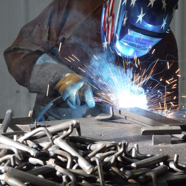 """Welding is a large part of a build, each bench has 110"""" of weld."""