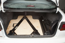 Bench in Car Trunk