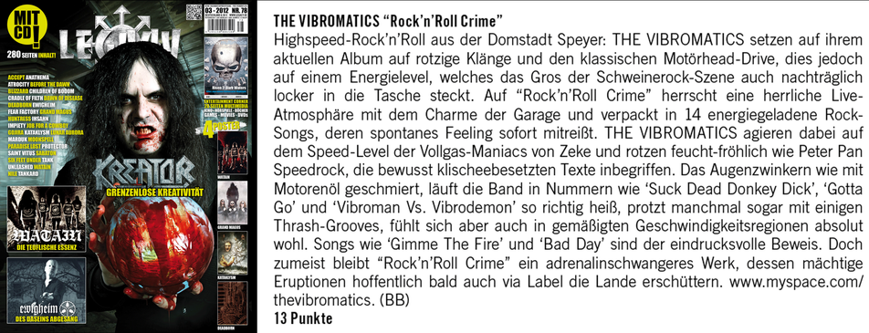 The Vibromatics - Review Legacy 2012