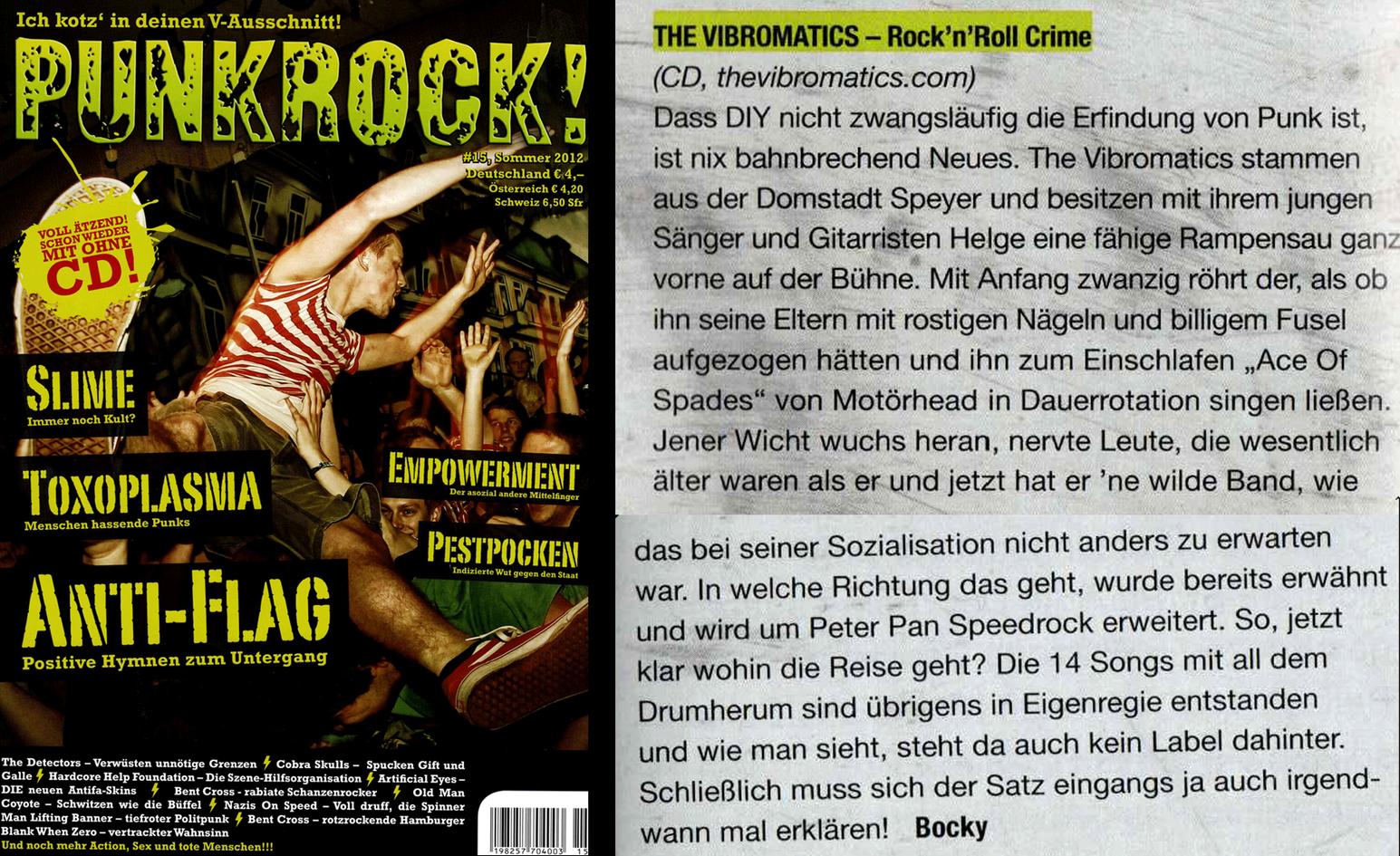 The Vibromatics - Review PUNKROCK 2012