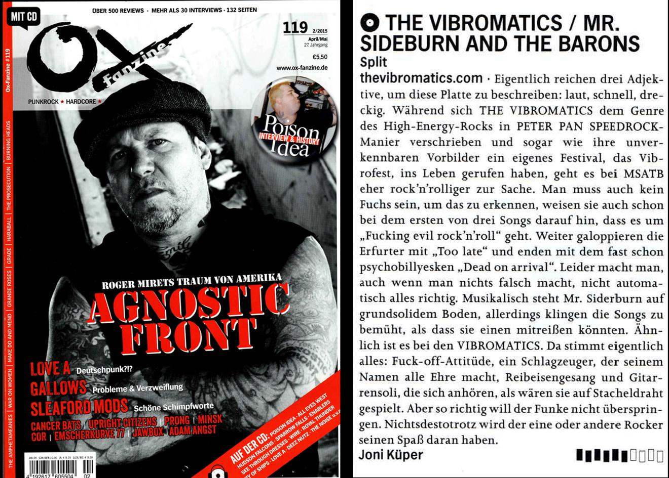 The Vibromatics - Review OX-Fanzine 2015