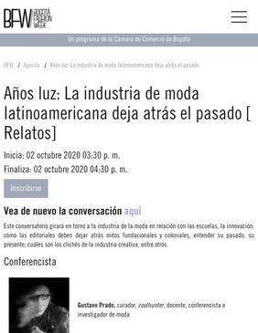 Bogotá Fashion Week /Octubre 2020