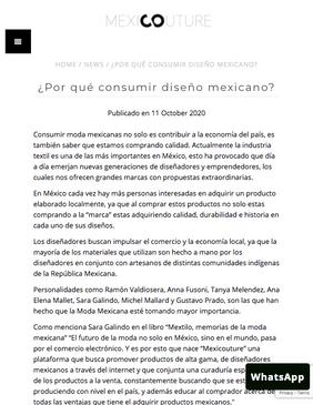 MEXICOUTURE / Octubre 2020