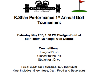 Golf Tournament May 20th