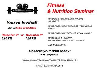 Nutrition Seminar at K.Shan Performance