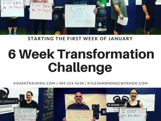 6 Week Transformation Challenge Starting January 1st