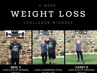 Congrats to our 6 Week Weight Loss Challenge Winners!