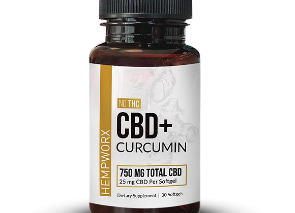 CBD Plus Curcumin Softgels
