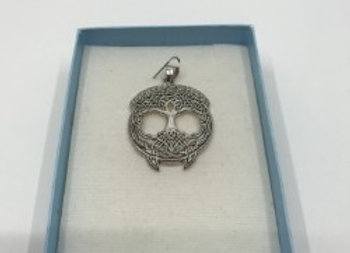Tree of Life  Celtic Pendant Pure Silver