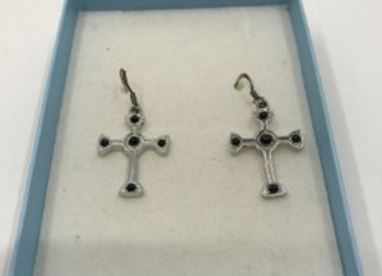 Sterling Silver with Black Onyx Gemstones Earrings