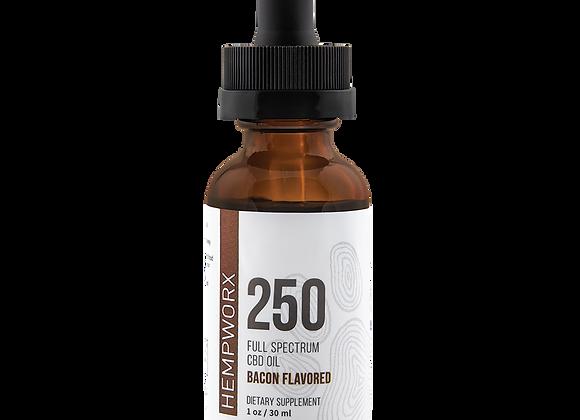Hempworx CBD OIL for PETS 250 MG BACON Flavor