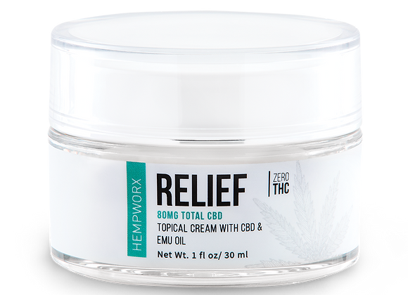 Relief Topical Cream  with EMU oil and CBD 3O Mg