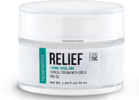 Relief Topical Cream with Emu Oil and CBD 50 MG