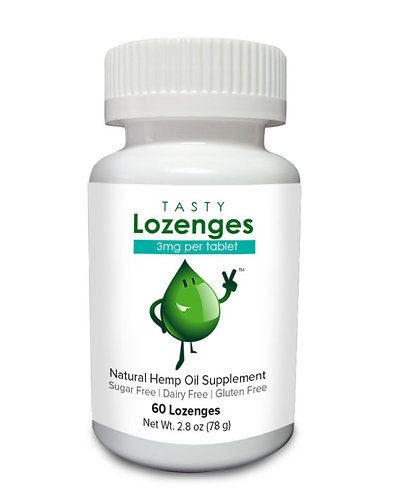 Tasty Lozenges Hemp Tablets 60 Count (3mg CBD each)
