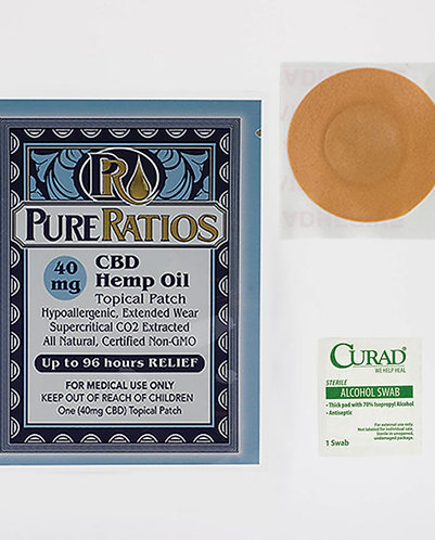 Pure Ratios – Hemp Patch (40mg CBD) Up to 96 Hour Usage